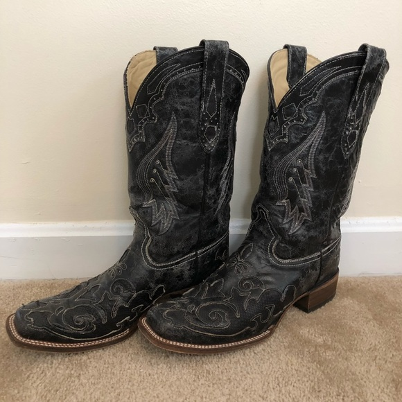 ef2007f2e5f Women's Corral Vintage Black Exotic Western Boots